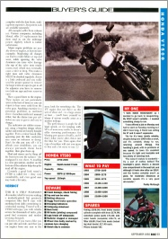 Sept 1992 Bike VT500 Test