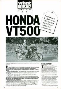1990 HONDA VT500E ROAD TEST PAGE 1